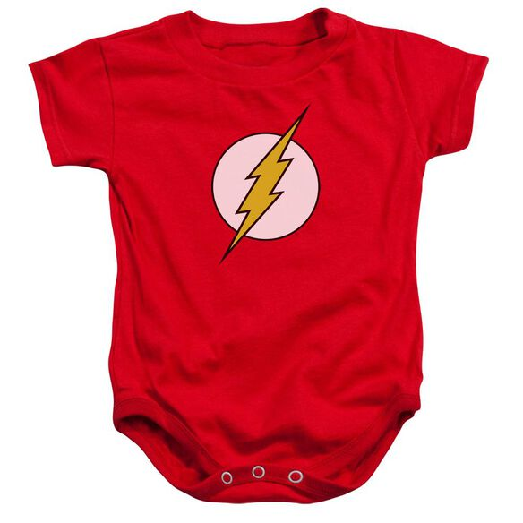 Dc Flash Logo Infant Snapsuit Red