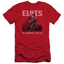 ELVIS PRESLEY RETURN OF THE KING - S/S ADULT 30/1 - RED T-Shirt