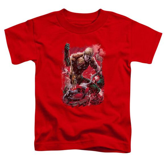 Jla Finished Short Sleeve Toddler Tee Red T-Shirt