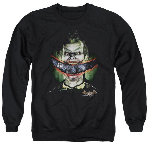 Batman Aa Crazy Lips - Adult Crewneck Sweatshirt - Black