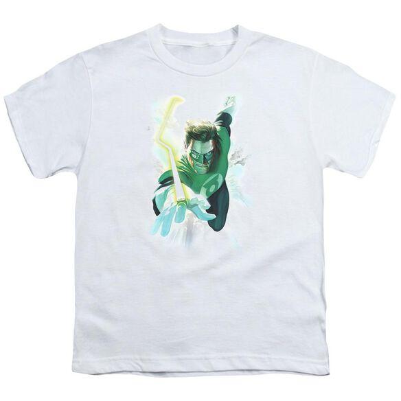 Green Lantern Clouds Short Sleeve Youth T-Shirt