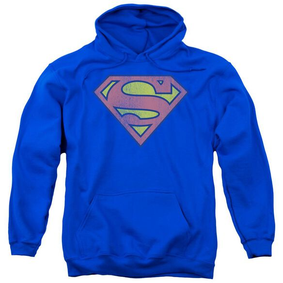 Dc Retro Supes Logo Distressed-adult Pull-over