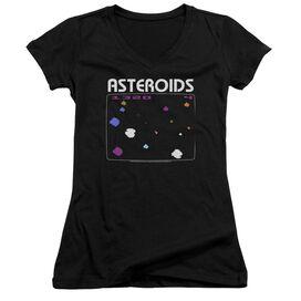 Atari Asteroids Screen Junior V Neck T-Shirt