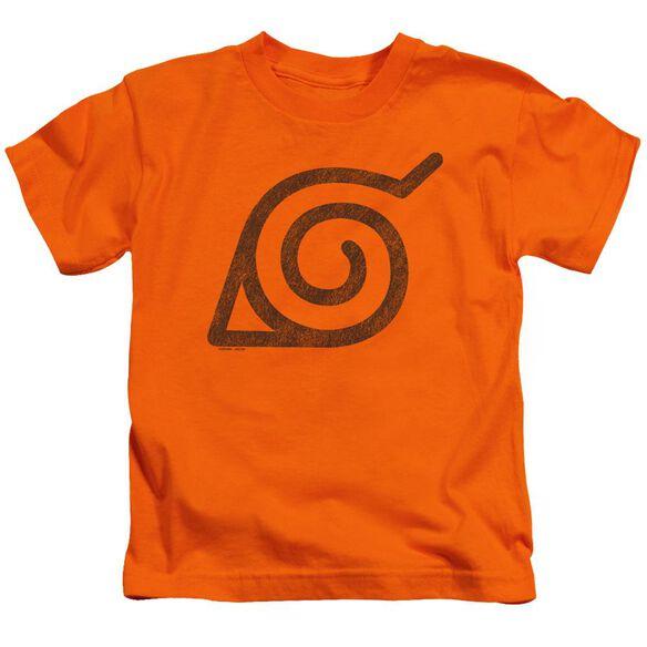 Naruto Shippuden Distressed Leaves Symbol Short Sleeve Juvenile T-Shirt