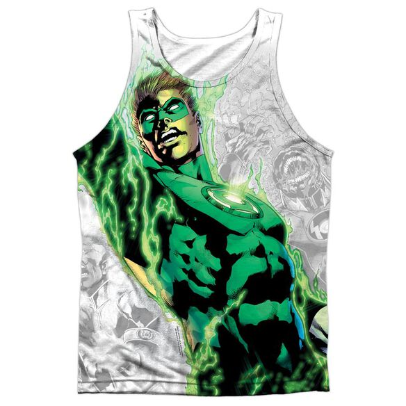 Green Lantern Light Em Up Adult 100% Poly Tank Top