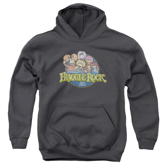 Fraggle Rock Circle Logo Youth Pull Over Hoodie
