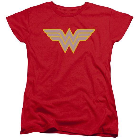Dc Ww Logo Short Sleeve Womens Tee T-Shirt
