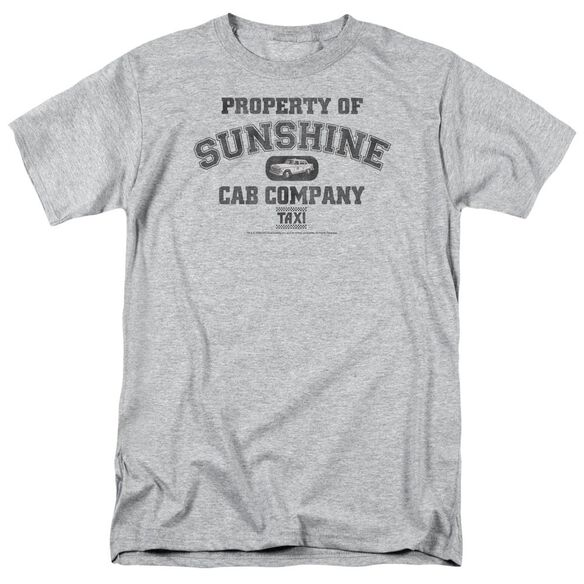 Taxi Property Of Sunshine Cab Short Sleeve Adult Athletic Heather T-Shirt