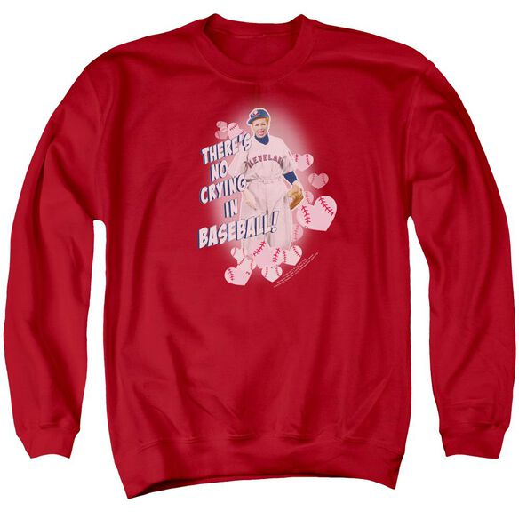 I Love Lucy No Crying In Baseball Adult Crewneck Sweatshirt