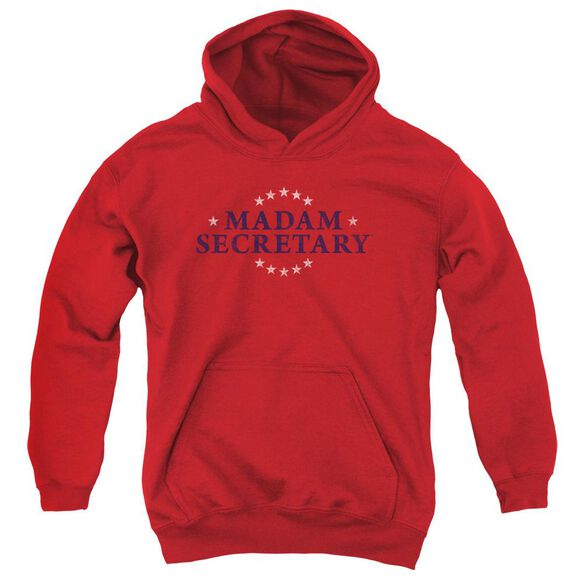 Madam Secretary Distress Logo Youth Pull Over Hoodie