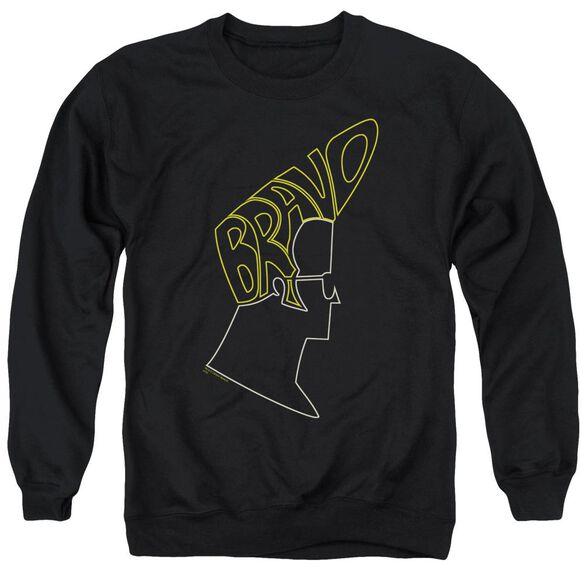 Johnny Bravo Bravo Hair Adult Crewneck Sweatshirt