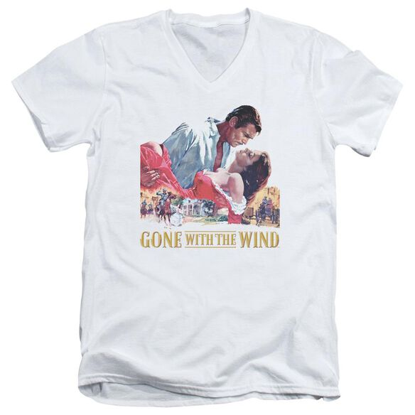 Gone With The Wind On Fire Short Sleeve Adult V Neck T-Shirt