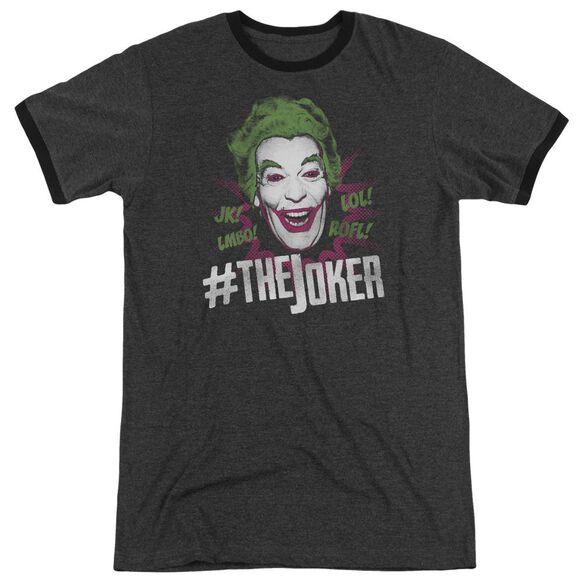 Batman Classic Tv #Joker Adult Heather Ringer Charcoal