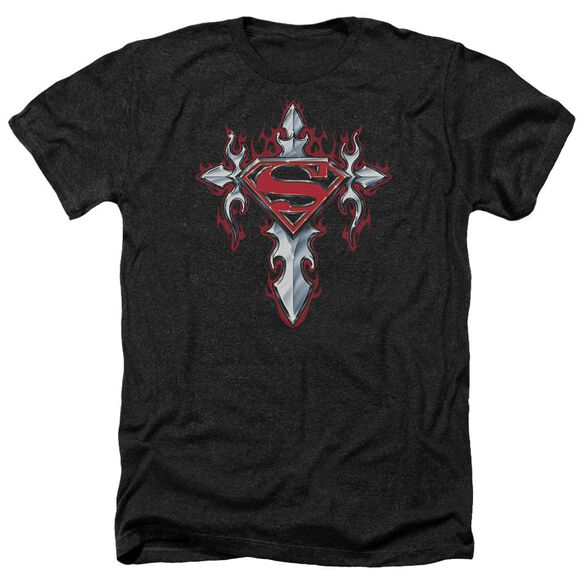Superman Gothic Steel Logo Adult Heather
