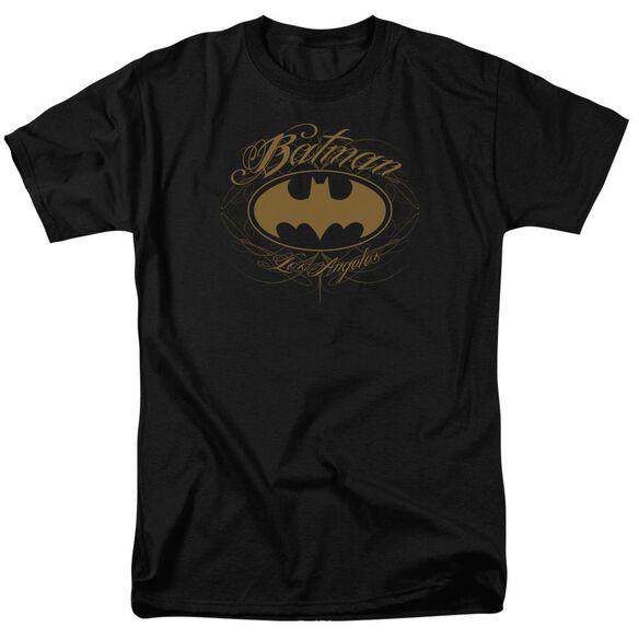 BATMAN BATMAN LA-S/S ADULT 18/1 - BLACK T-Shirt