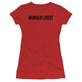 Murder In The First Logo Short Sleeve Junior Sheer T-Shirt