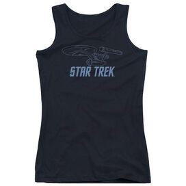 Star Trek Enterprise Outline - Juniors Tank Top