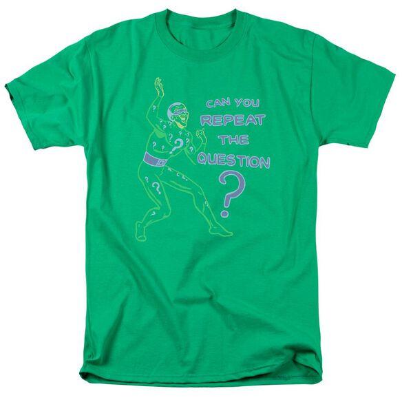 Batman Repeat Short Sleeve Adult Kelly Green T-Shirt