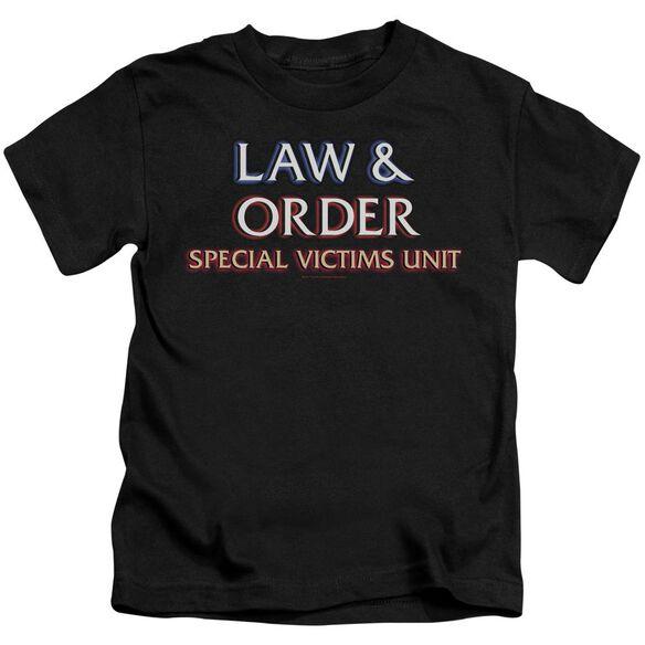 Law And Order Svu Logo Short Sleeve Juvenile Black Md T-Shirt