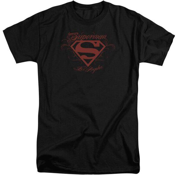 Superman La Short Sleeve Adult Tall T-Shirt