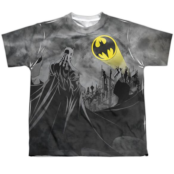 Batman Heed The Call Short Sleeve Youth Poly Crew T-Shirt