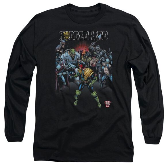 Judge Dredd Behind You Long Sleeve Adult T-Shirt