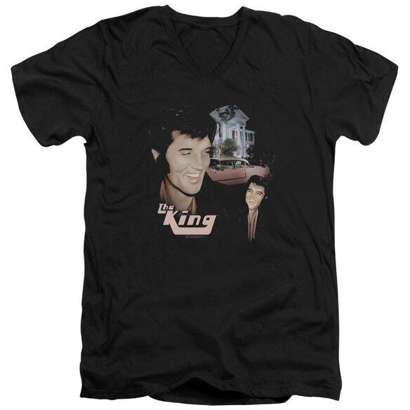 Elvis Home Sweet Home Short Sleeve Adult V Neck T-Shirt