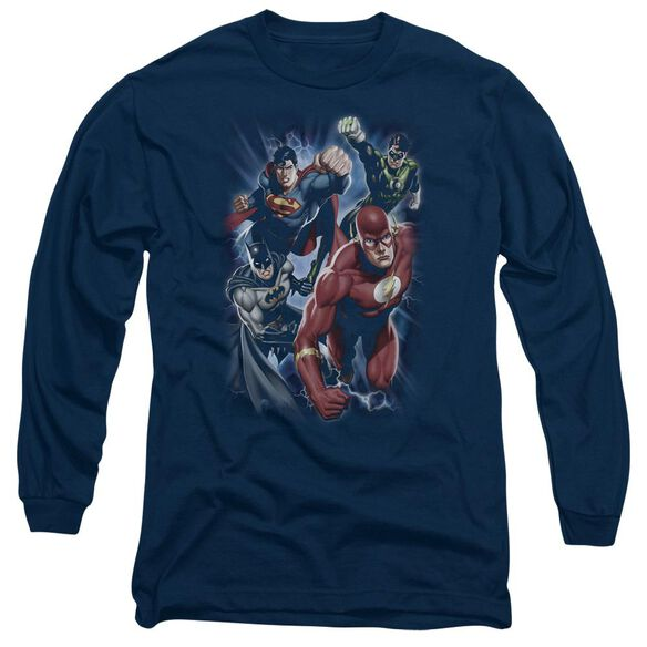 Jla Storm Chasers Long Sleeve Adult T-Shirt