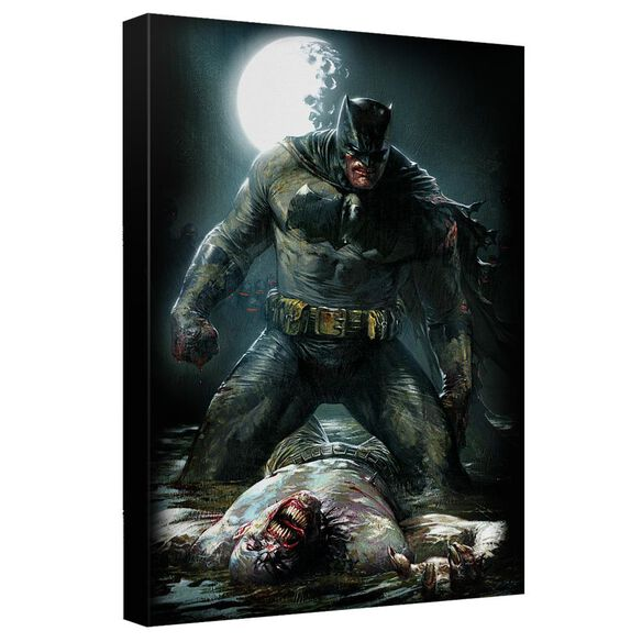 Batman Mudhole Canvas Wall Art With Back Board