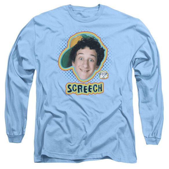 Saved By The Bell Screech Long Sleeve Adult Carolina T-Shirt