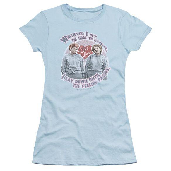 I Love Lucy Lucy's Workout Short Sleeve Junior Sheer Light T-Shirt