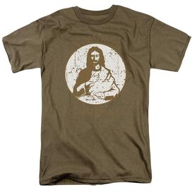 J.C. Is Coming Short Sleeve Adult Sand T-Shirt