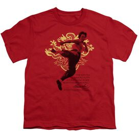 BRUCE LEE IMMORTAL DRAGON - S/S YOUTH 18/1 - RED T-Shirt