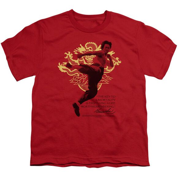 Bruce Lee Immortal Dragon Short Sleeve Youth T-Shirt