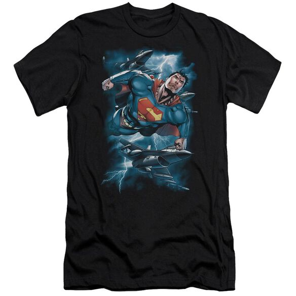 Superman Stormy Flight Premuim Canvas Adult Slim Fit