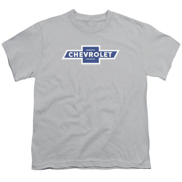 Chevrolet Vintage White Border Bowtie Short Sleeve Youth T-Shirt