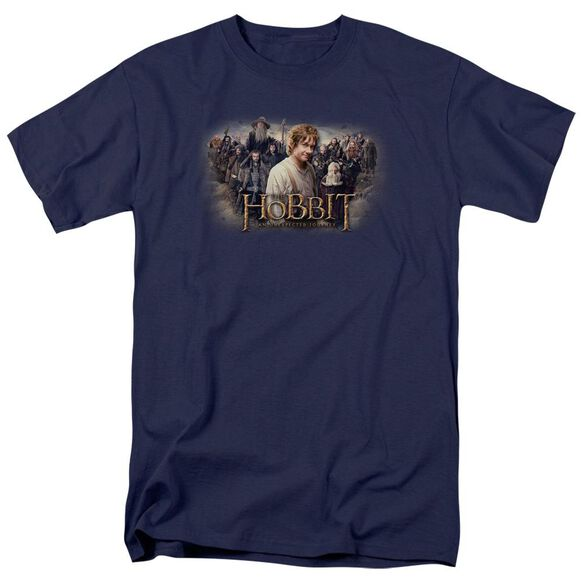 The Hobbit Hobbit Rally Short Sleeve Adult Navy T-Shirt