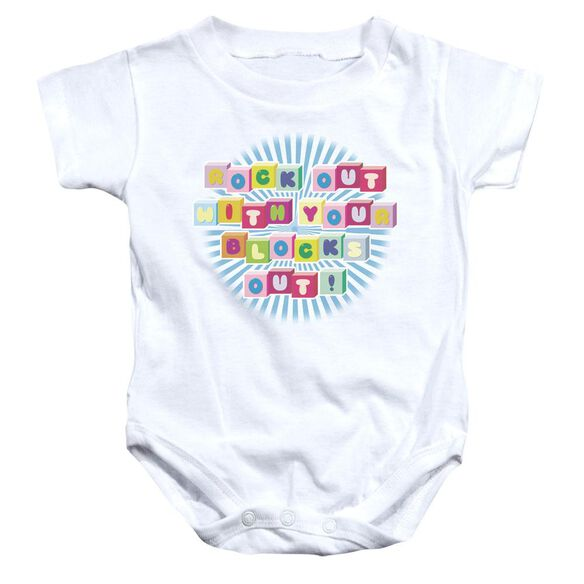 Rock Out Infant Snapsuit White Lg