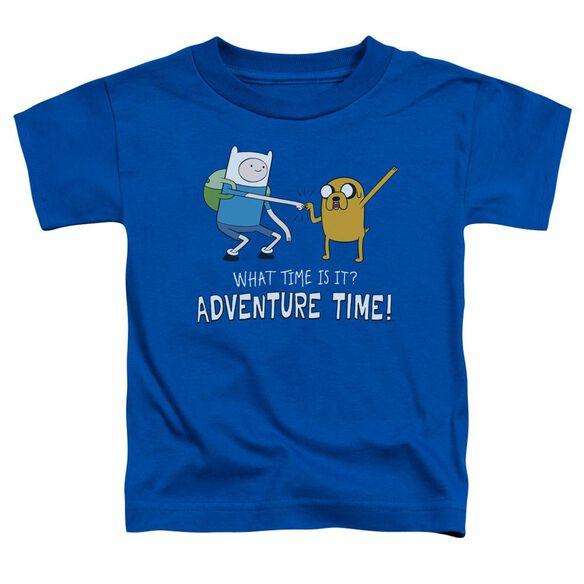 Adventure Time Fist Bump Short Sleeve Toddler Tee Royal Blue T-Shirt