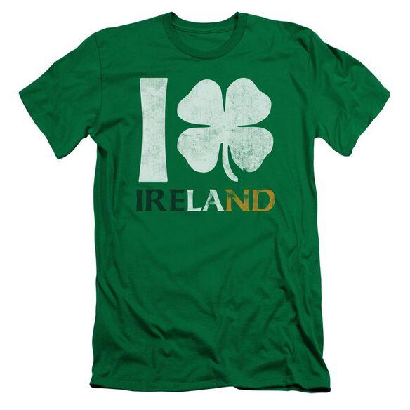I Love Ireland Short Sleeve Adult Kelly T-Shirt