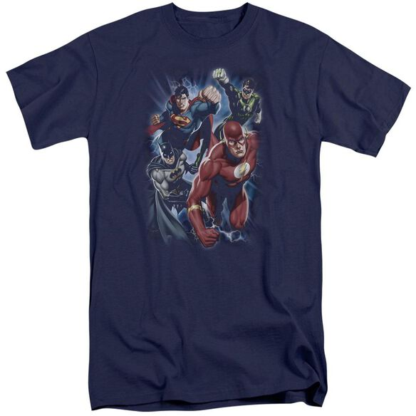 Jla Storm Chasers Short Sleeve Adult Tall T-Shirt