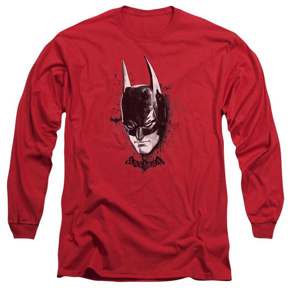Batman Arkham Knight Ak Head Long Sleeve Adult T-Shirt