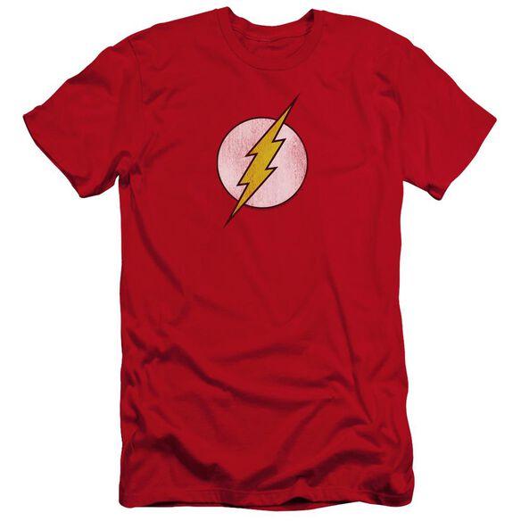Dc Flash Flash Logo Distressed Premuim Canvas Adult Slim Fit
