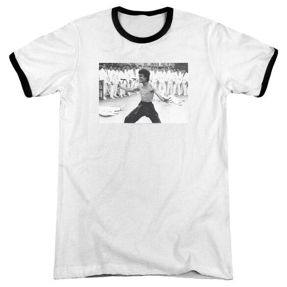 Bruce Lee Triumphant Adult Ringer White Black
