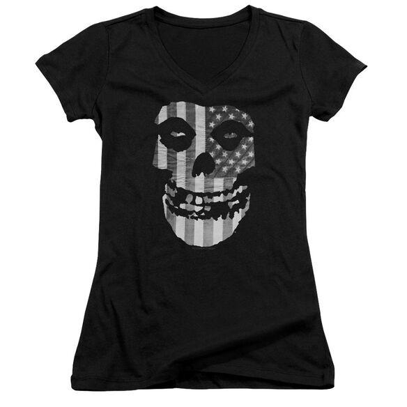 Misfits Fiend Flag Junior V Neck T-Shirt