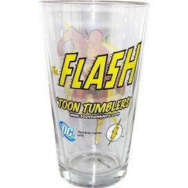 Flash Run Logo Pint Glass