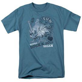 Sun Where Rock Began Short Sleeve Adult Slate T-Shirt