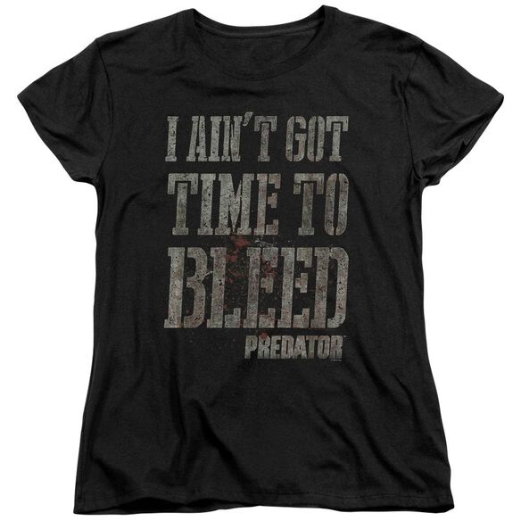 Predator Bleeding Time Short Sleeve Womens Tee Black T-Shirt