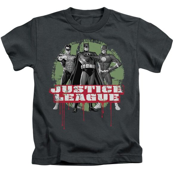 Jla Jla Trio Short Sleeve Juvenile Charcoal T-Shirt
