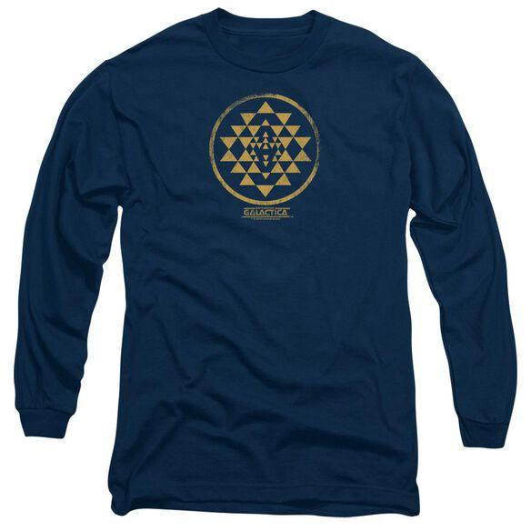 BSG GOLD SQUADRON PATCH - L/S ADULT 18/1 - NAVY T-Shirt
